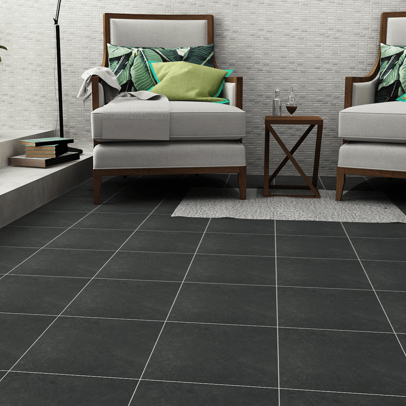 Construct Black Matte Ceramic Tiles Imex Inspired The Living