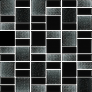 Fusion Black - Glass Tiles