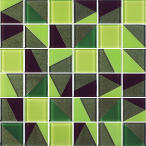 Kente Bright Green - Glass Tiles