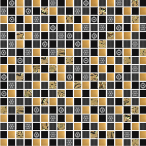 Princess Golden Black - Glass Tiles