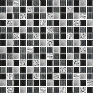 Prince Platinum Black - Glass Tiles