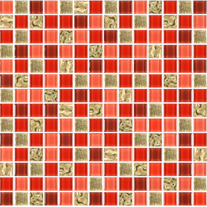 Prince Golden Red - Glass Tiles