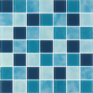 Caribbean Sea Aqua Glass Tiles