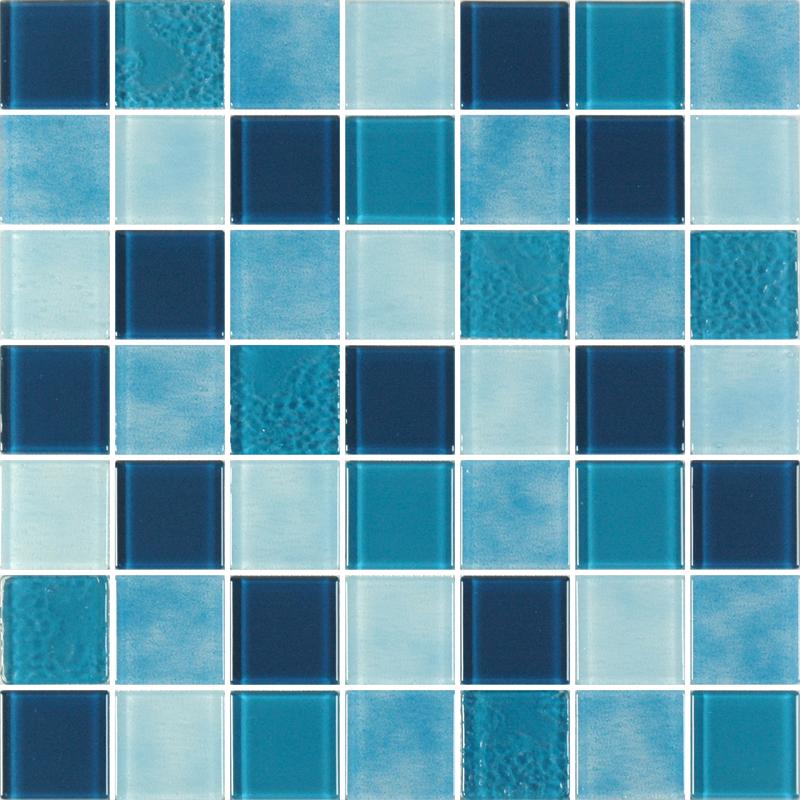 Caribbean Sea Aqua Glass Tiles