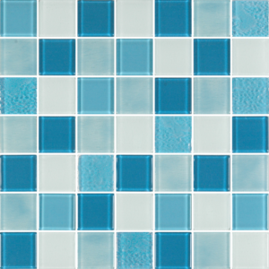 Caribbean Blue Glass Tiles