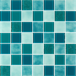 Caribbean Evergreen Glass Tiles