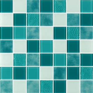 Caribbean Verde Jade Glass Tiles