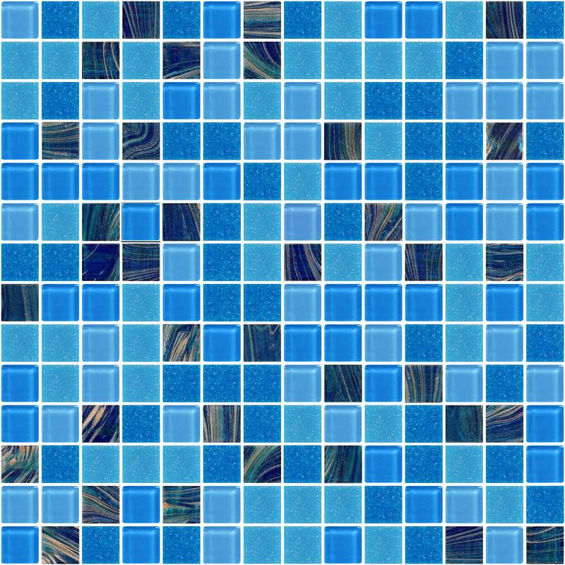Aden Dark Blue Glass Tiles