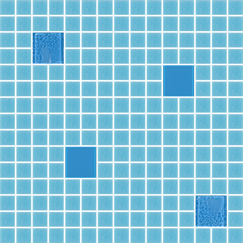 Cocktail Coco Blue Glass Tiles