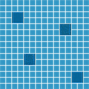 Cocktail Blue Fizzy Glass Tiles