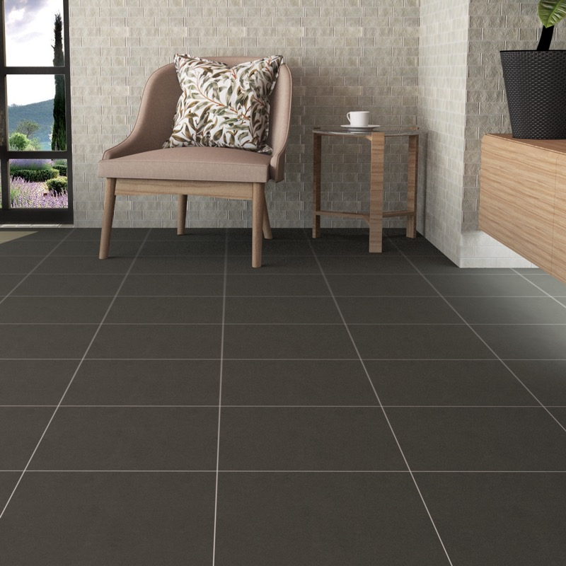 Holy Charcoal Matte Ceramic Tiles Imex Inspired The