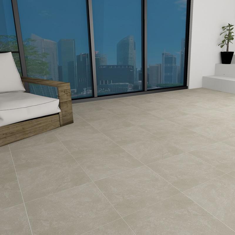 Strata Salt Matte 400x400 - Ceramic Tiles | IMEX - Inspired the living
