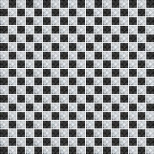 Diamond Check Black&White - Glass Tiles