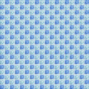 Diamond Check Blue Ocean - Glass Tiles
