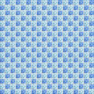 Diamond Check Blue Ocean - Glass Tiles
