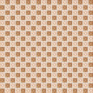 Diamond Check Brown - Glass Tiles