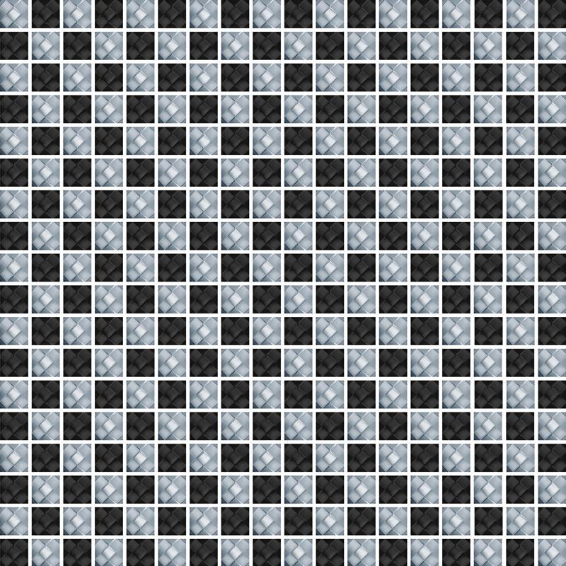 Diamond Check Nero - Glass Tiles