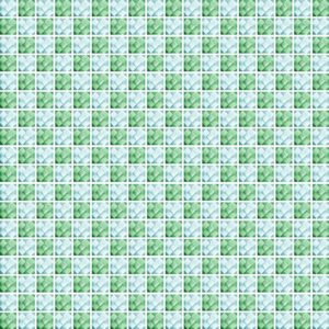 Diamond Check Green - Glass Tiles