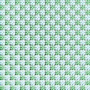 Diamond Check Green - Glass Tiles