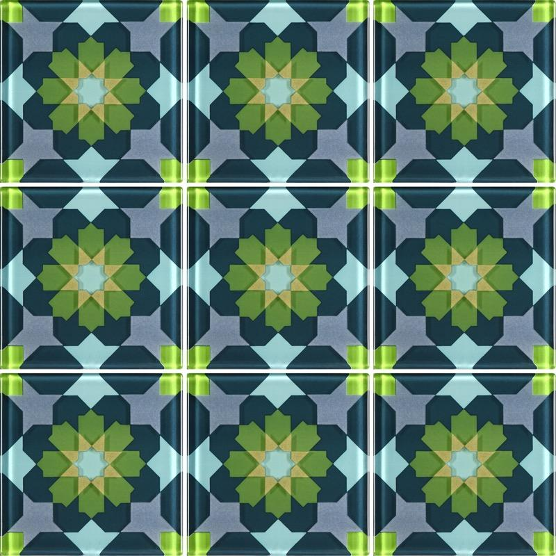 MQ1-1 Green - Glass Tiles