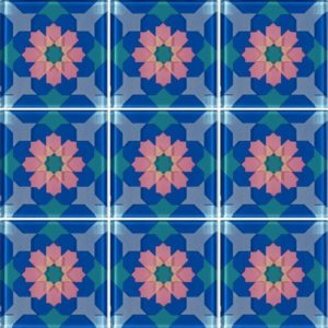 MQ1-2 Blue - Glass Tiles