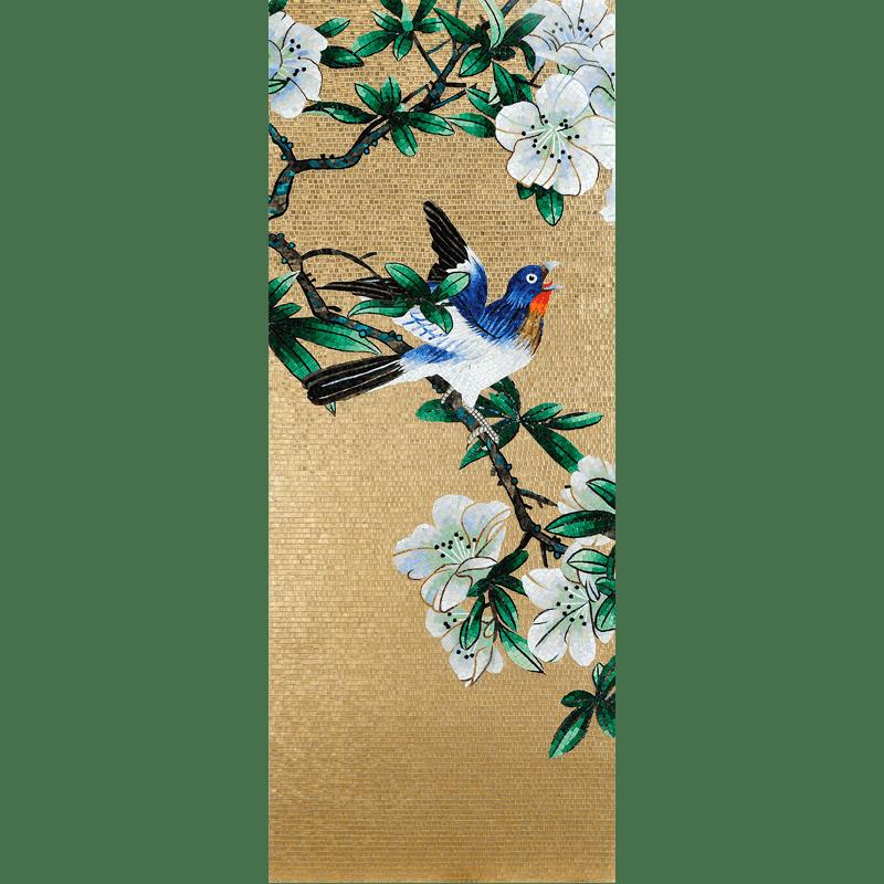 BIRDS 01 - Mosaic Art - Glass Tiles