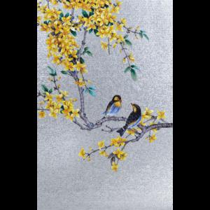 BIRDS 02 - Mosaic Art - Glass Tiles