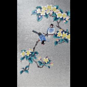 BIRDS 03 - Mosaic Art - Glass Tiles