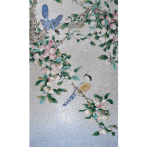 BIRDS 04 - Mosaic Art - Glass Tiles