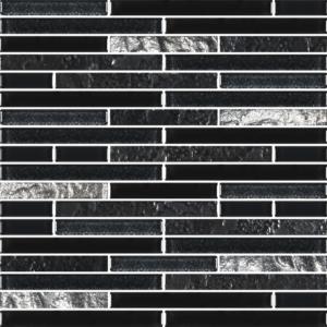 Charms Black Silver - Glass Tiles